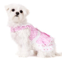 UrbanPup Baby Pink Polka Dot Harness Dress