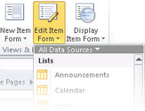 Create data forms using SharePoint Designer