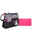 Black & White Pink Zebra Diaper Bag