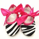 Zebra Black White Print Baby Shoes