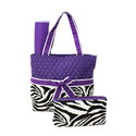 Zebra Diaper Bag Purple