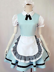 Halloween Alice in Wonderland Maid Costumes With Ruffles Halloween - Milanoo.com