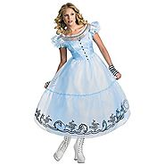 Alice In Wonderland Women's Adult Deluxe Blue Dress Movie Costume