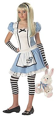California Costumes Girls Tween Alice Costume, Blue/White, Large