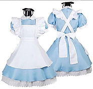 Details about  Alice In Wonderland Costume Cosplay Women Girl Maid Fancy Dress Lolita 4 Size