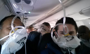 Passenger tweets oxygen mask selfie on emergency landing flight
