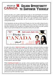 Apply for Study in Canada and get free counselling
