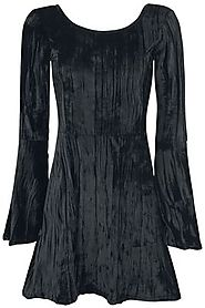 Noci Black Velvet | Outer Vision Medium-length dress | EMP