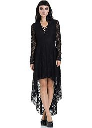 JAWBREAKER CLOTHING Lace High-Low Dress