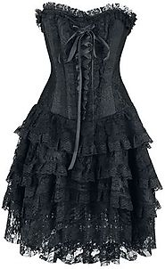 Rose Lee | Gothicana by EMP Medium-length dress | EMP