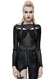 Devil Fashion Draconia Punk Net Top | Attitude Clothing
