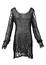 Punk Rave Black Ruin Sweater | Attitude Clothing