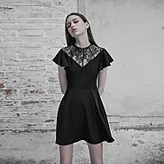 Women's Lace Inset Punk Dress