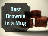 The Best Brownie in a Mug Recipe!