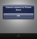 Connecting to the iTunes Store.