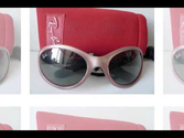 RAYBAN JUNIOR GIRLS SUNGLASSES Kids Pink Predator Wrap Around Ray Ban Jr #2130 Slideshow