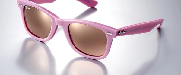 Headline for Ray Ban Junior Girls Pink Predator Wrap Around Sunglasses