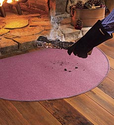 Fiberglass Hearth Rug, Fire-Resistant Fireplace Rug - Plow & Hearth