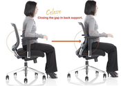 Sit up and scoot back so that your back is supported by your chair