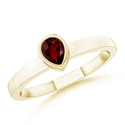 Pear Garnet Stackable Ring