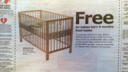 Ikea Wins Valentine's Day With Offer of Free Crib-Nine Months From Now