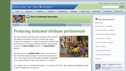 College of the Rockies - Early Childhood Education