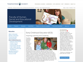 Thompson Rivers University - Early Childhood Education (ECE)