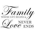 FAMILY... where life begins and love never ends