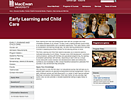 MacEwan University - Learning and Child Care