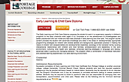 Portage College - The Early Learning and Child Care Diploma Prepares the Student to Work in a Supervisory Capacity in...