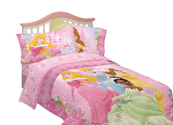 Disney Dainty Princess Microfiber Sheet Set, Twin