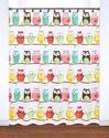 Owl PEVA Shower Curtain - Shower Curtain Decorative Hooks