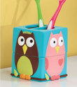 Cute Owl Bathroom Toothbrush Holder - Perched Owl