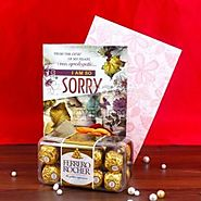 Sorry Greeting Card and Ferrero Rocher Chocolate