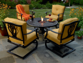 Highland 5 Pc. Chat Set With Fire Urn*  Country Living Outdoor Living