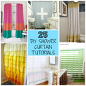 25 DIY Shower Curtain Tutorials