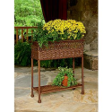 Wicker Rectangular Plant Stand- Country Living-Outdoor Living-Outdoor Decor-Planters