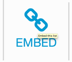Tip #5: Want to Embed a List on Your Blog?
