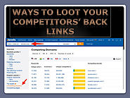 Actionable Ways to Loot Your Competitors' Backlinks