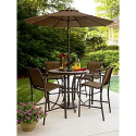 Cooper Lighted High Dining Table- Garden Oasis-Outdoor Living-Patio Furniture-Tables & Side Tables