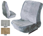 The Euro Sheepskin Universal Car Seat Cover In Gray