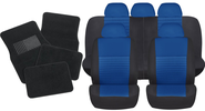 Blue Car Seat Covers With a Universal Fit Racer Style