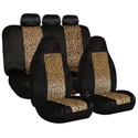 2 Tone Classic Leopard Car Seat Covers, Airbag compatible and Split Bench