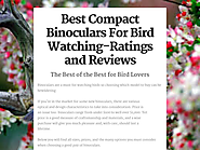 Best Compact Binoculars For Bird Watching-Ratings and Reviews