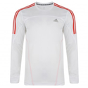 Adidas Response Climalite Long Sleeve Running Top White