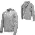 More Mile Full Zip Hoody HZM96 - Light Grey / White