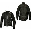 More Mile Hi-Viz Tour Elite Cycle Jacket - Black / Reflective Silver
