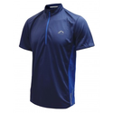 More Mile Short Sleeve Running More-Tech Half Zip Tee