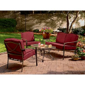 Jayden 4 Pc. Deep Seating Set- Garden Oasis-Outdoor Living-Patio Furniture-Casual Seating Sets