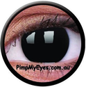 Blackout Crazy Contact Lenses Pair - PimpMyEyes.com.au